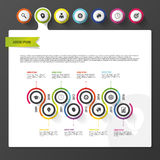 Infographic dashboard template. Modern design template. Vector Stock Photo