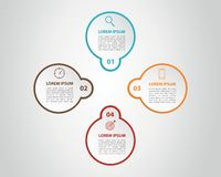Infographic 8 step process list with center title banner - vector stock illustration