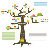 Infographic data on the tree - presentation Stock Image