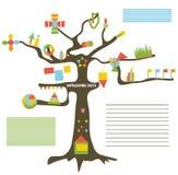 Infographic-Daten bezüglich des Baums - Darstellung stock abbildung