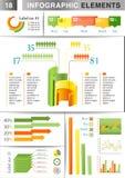 INFOGRAPHIC de grafiekpastei van het presentatiemalplaatje Stock Fotografie