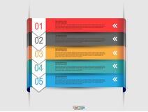 Infographic de papier abstrait Images libres de droits
