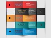 Infographic de papier abstrait Photo libre de droits