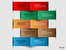 Infographic de papier abstrait Images stock