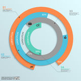 Infographic de papier abstrait Photographie stock