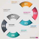 Infographic de papier abstrait Photographie stock libre de droits