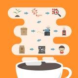 Infographic de processus de café illustration stock