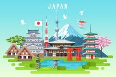 Infographic de reis van Japan vector illustratie
