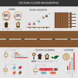 Infographic decking floor Royalty Free Stock Image