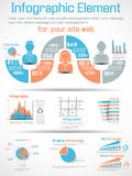 Infographic demographic elements chart and graphic f. Or web Royalty Free Stock Images