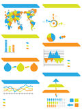 Infographic demographic elements chart and graphic toy Stock Images