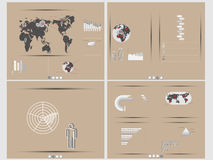 Infographic demographic elements chart and graphic. For web Royalty Free Stock Images