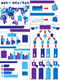 Infographic demographic elements chart and graphic. For web Stock Photo