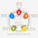 Infographic demographic elements chart and graphic. For web Royalty Free Stock Photo