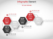 Infographic demographic elements chart and graphic. For web Stock Photos