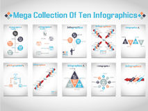 Infographic demographic elements chart and graphic. For web Royalty Free Stock Image