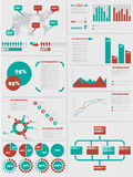 Infographic demographic elements chart and graphic Stock Images