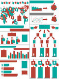 Infographic demographic elements chart and graphic Royalty Free Stock Photos