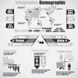 Infographic demographic elements chart and graphic for web Royalty Free Stock Photo