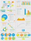 Infographic demographic elements chart and graphic for web Royalty Free Stock Images