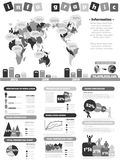 Infographic demographic elements chart and graphic for web Stock Photography