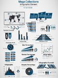 Infographic demographic elements chart and graphic for web Stock Image