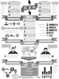 Infographic demographic elements chart and graphic. For web Royalty Free Stock Photos