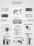 Infographic demographic elements chart and graphic. For web Royalty Free Stock Photography