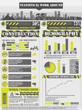 Infographic demographic elements chart work. Infographic demographic elements chartwork for web Royalty Free Stock Photos