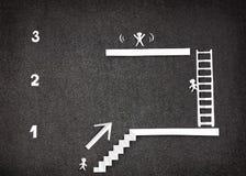 Infographic demuestra tres pasos al éxito Imagen de archivo libre de regalías