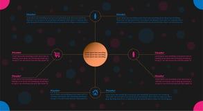 Infographic in den rosa und blauen Farben Lizenzfreie Stockbilder