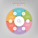 Infographic des Kreiselements, flaches Design des Geschäftsikonenvektors Lizenzfreie Stockfotografie