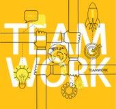 Infographic des Teamwork-Konzeptes Stockfoto
