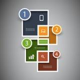 Infographic design stock illustrationer