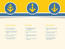 Infographic design with arrows in circle. Infographic design with arrow symbols in circle Stock Photography
