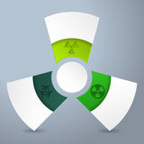 Infographic design with bio hazard labels Royalty Free Stock Images