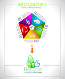 Infographic design  for BIO product ranking Stock Image