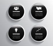 Infographic design black circles Stock Image