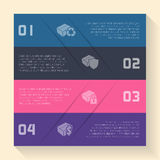 Infographic design with box icons Royalty Free Stock Photo
