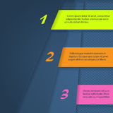 Infographic design with bright color labels Stock Photography