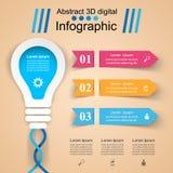 Infographic design. Bulb, Light icon. Stock Photo