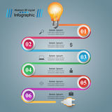 Infographic design. Bulb, Light icon. Stock Photography