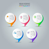 Infographic design business concept with 5 options. Royalty Free Stock Photography