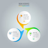 Infographic design business concept with 3 options. Stock Photography