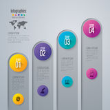 Infographic design and business icons. Royalty Free Stock Image