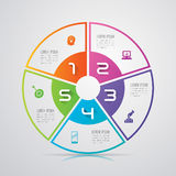Infographic design and business icons. Royalty Free Stock Photos