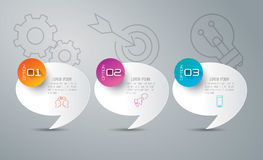 Infographic design and business icons. Royalty Free Stock Photo