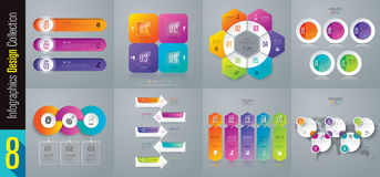 Infographic design and business icons with 3, 4, 5 and 6 options. Royalty Free Stock Images