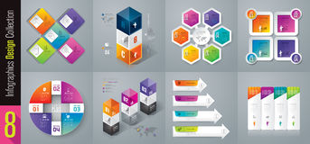 Infographic design and business icons with 3, 4, 5 and 6 options. Abstract 3D digital illustration Infographic. Vector illustration can be used for workflow Stock Illustration