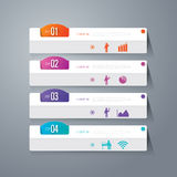 Infographic design and business icons with 4 options. Stock Image
